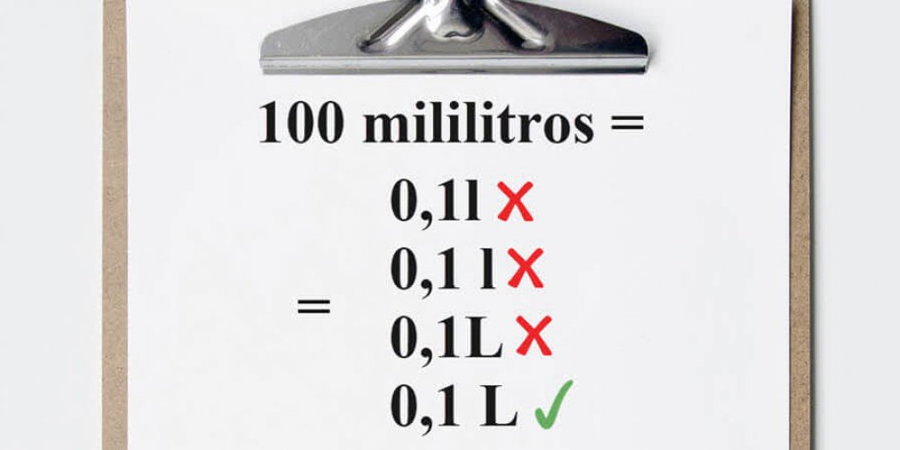 Símbolo de litro: l minúsculo ou L maiúsculo?